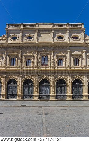Facade Of The Town Hall At The Plaza San Francisco In Sevilla, Spain
