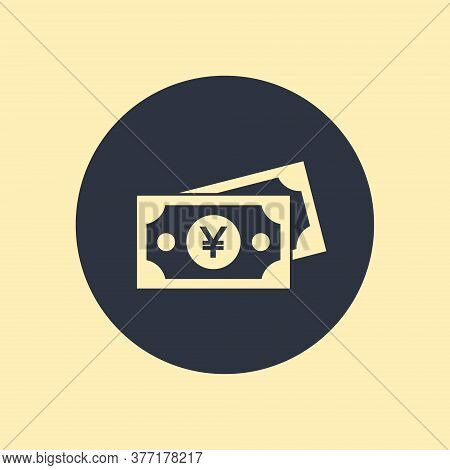 Yen Money Vector Icon. Filled Flat Sign. Money Bill Simple Solid Icon. Yen Sign Icon. Premium Qualit