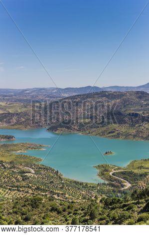 Embalse De Zahara-el Gastor Lake In Grazalema National Park, Spain