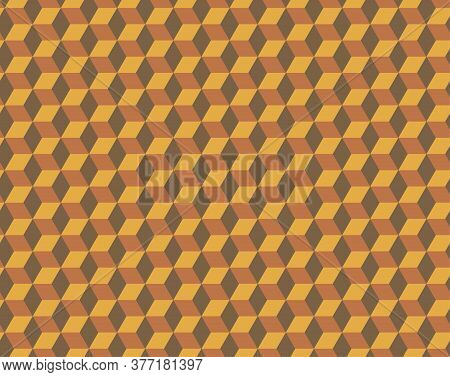 Seamless Cubes Pattern. 3d Vector Geometric Wallpaper, Cube Pattern Background. Optical Illusion.