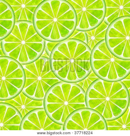 Slice Oflemon Pattern Illustration