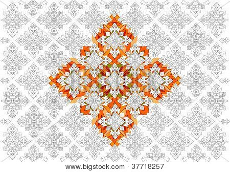 Thai basic ornament vector can be apply for tattoo ,pattern or background poster