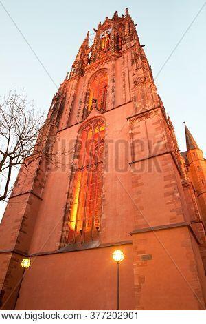 Saint Bartholomew's Cathedral At Dusk, Frankfurt, Hesse, Germany