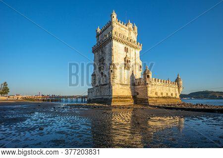 Belem Tower In Belem District Of Lisbon