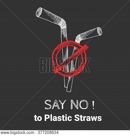 Stop Using Plastic Straws, Stop Plastic Pollution On Sea, The Refusal Of Disposable Plastic Drinking