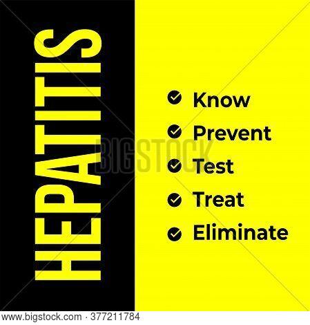 Vector Illustration Of World Hepatitis Day