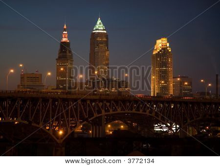 Cleveland Skyline Night