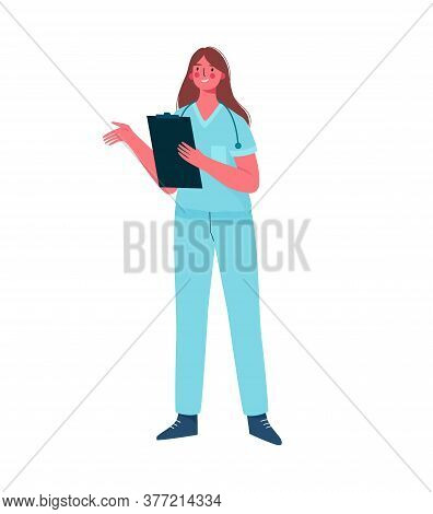 Young Professional Woman Doctor Isolated On White Background. Medical Specialist. Medical Staff Doct