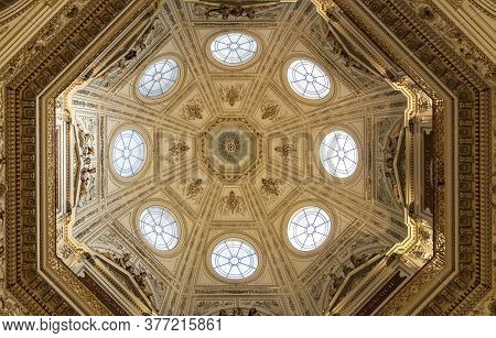 Vienna, Austria - February 17, 2015 - Ceiling Of The Natural History Museum - Naturhistorisches Muse