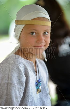 Russia, Vyborg, 30,07,2011 Children In Historical Clothing At The Festival Of The Historical Reconst