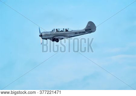 Aircraft In The Sky At The Reconstruction Of The Second World War To The Day Of Lifting The Blockade