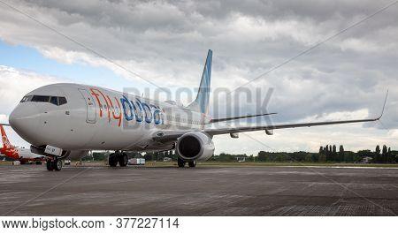 Ukraine, Kyiv - July 8, 2020: Passenger Aircraft Boeing 737-800 Next-generation Flydubai Airlines A6
