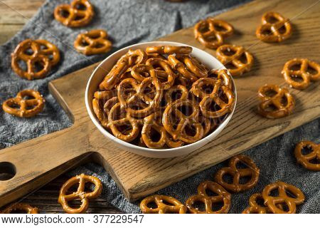Salty Crunchy Pretzel Crackers