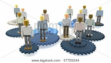 3D figures on cogs