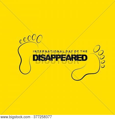 International Day Of The Disappeared Design With Footprint Vector Illustration