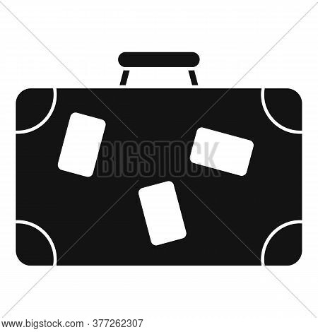Travel Suitcase Icon. Simple Illustration Of Travel Suitcase Vector Icon For Web Design Isolated On