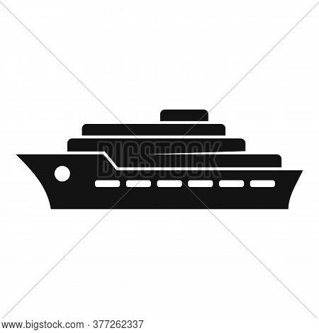 Dubai Ship Icon. Simple Illustration Of Dubai Ship Vector Icon For Web Design Isolated On White Back