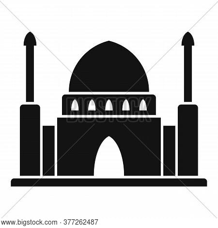 Dubai Mosque Temple Icon. Simple Illustration Of Dubai Mosque Temple Vector Icon For Web Design Isol