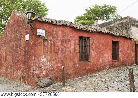 Corner Of San Pedro Street And The Street Of Sighs (calle De Los Suspiros) In The Historical Center