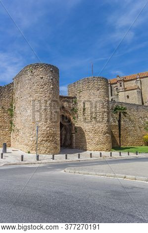 Towers Of The Historic Almocabar City Gate In Ronda, Spain