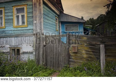 Pereslavl-zalessky, Russia - July 18, 2020: Ornamental Carved Windows, Frames On Vintage Wooden Rura