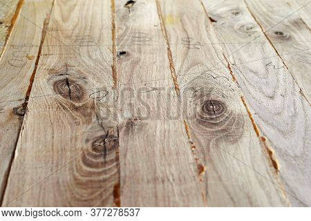 Joiner's Production. Making Wood Shields. Several Boards Are Glued Into A Solid Array. Connections O