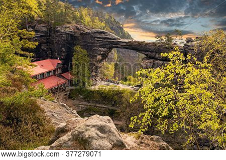 Pravcice Gate Is The Largest Natural Rock Gate On The European And A National Nature Monument. It Is
