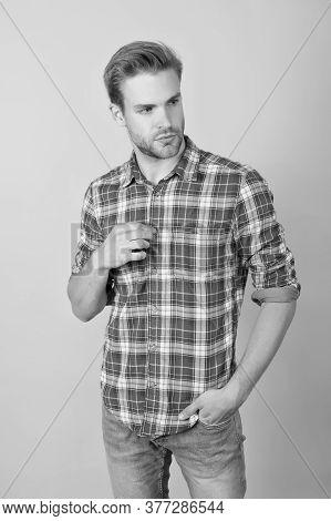 How Do You Like My Style. Menswear Shop. Macho Man Wearing Checkered Shirt. Fashion Summer Trends. U