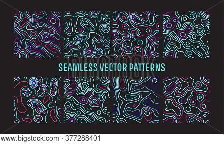 Abstract Seamless Noise Vector For Print Design. Line Vector Topography. Marble Pattern.