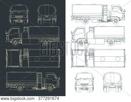 Airport Fuel Truck Blueprints