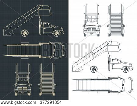 Airport Ladder Car Blueprints
