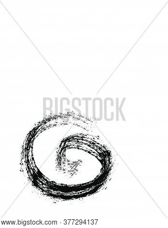 G Initials Grudge Ink Art Logo And Vector Icon
