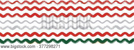 Cool Wavy Zigzag Stripes Vintage Pattern. Summer Spring Graffiti Stripes. Winter Autumn Bright Fashi