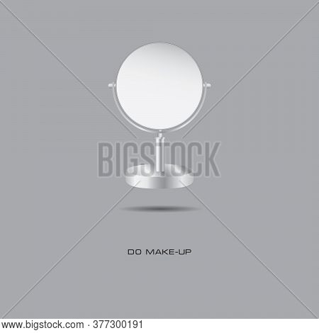 Double-sided Mirror Banner - Make-up. Vector Illustration.