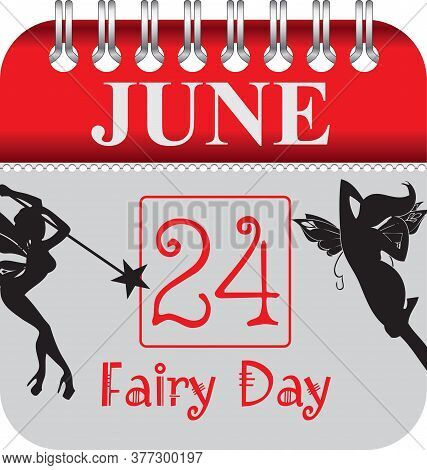 Calendar With Perforation For Changing Dates - June Fairy Day