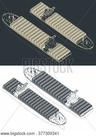 Container Ship Isometric Drawings