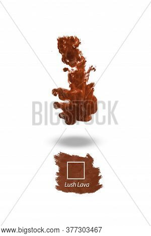 2020 Color Trend Of The Year, Lush Lava Red Liquid Water Colour