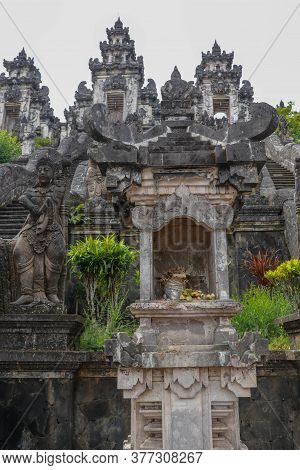 An Altar In One Of Many Hindu Temples In Bali, Indonesia