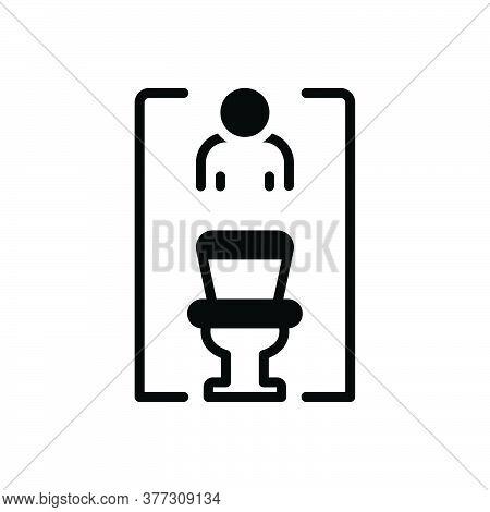 Black Solid Icon For Restroom Bathroom Washroom Sanitary Toilet Lavatory Hygiene Comfort Unisex