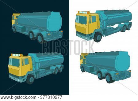 Refueler Truck Color Illustrations