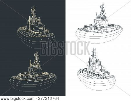 Tugboat Drawings
