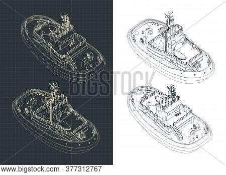 Tugboat Isometric Drawings