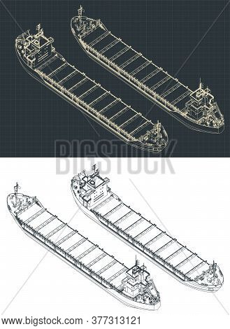Dry Cargo Ship Isometric Drawings