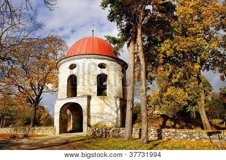 Old  Tower Of Manor. Estonia. Sutlema