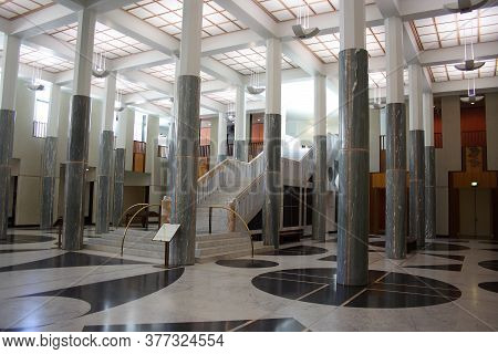 Canberra, Australia - November 8, 2009: Inside Parliament House. Parliament House Is The Meeting Pla