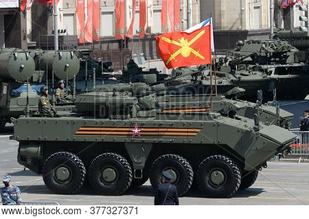 Moscow, Russia - June 24, 2020:russian Armored Personnel Carrier