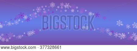 Seamless Christmas Pattern With Various Complex Big And Small Snowflakes On Colorful Background. Mod