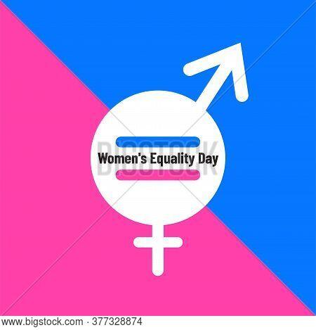 Women's Equality Day. Gender Equality Concept Illustration