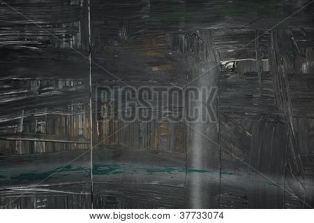 Black Painted Abstract modern Art