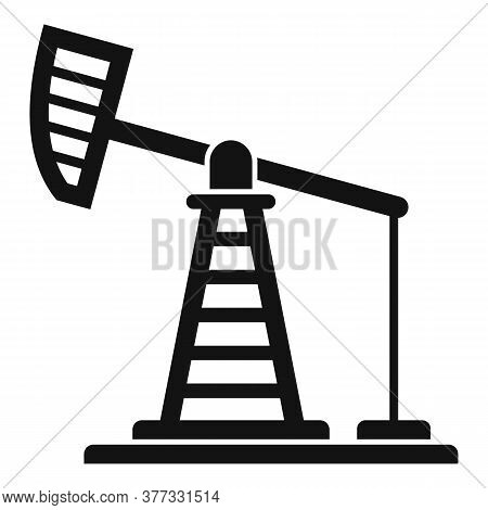 Extract Petrol Tower Icon. Simple Illustration Of Extract Petrol Tower Vector Icon For Web Design Is